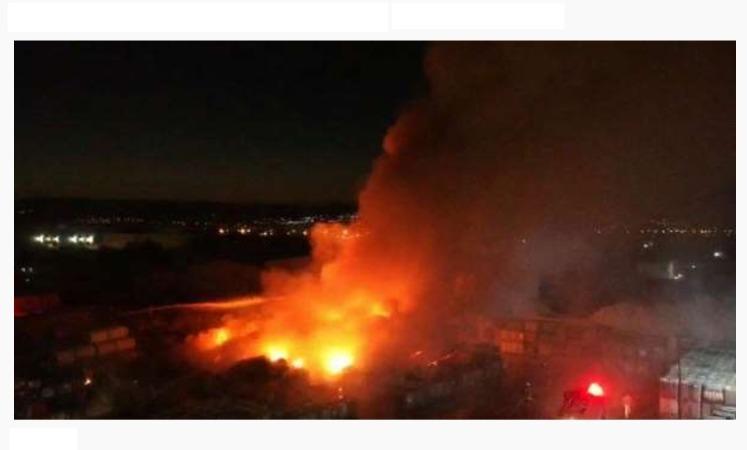 Manisa OSBde Korkutan Fabrika Yangını